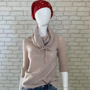 Cynthia Rowley 100% cashmere cowl neck sweater - M